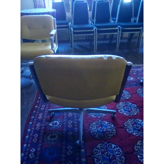Contemporary 1960 Vintage Yellow Captain Chairs - Set of 8 For Sale - Image 3 of 7