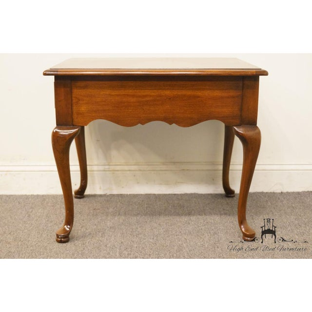 Brown Thomasville Furniture Collectors Cherry Collection End Table For Sale - Image 8 of 13