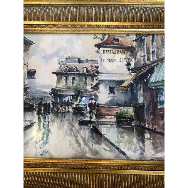 Scenes of Paris in Giltwood Frames -Set of 4 For Sale In Philadelphia - Image 6 of 9