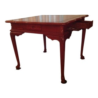 Asian Solid Rosewood Game Table For Sale