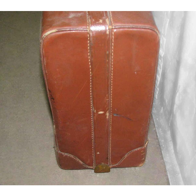 Vintage Leather Gladiator Suitcase - Image 6 of 10