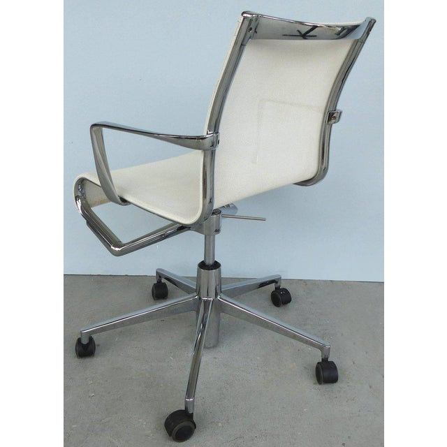 Contemporary Rolling Frame Swivel Chair with Armrests by Alberto Meda for Alias, Italy For Sale - Image 3 of 10