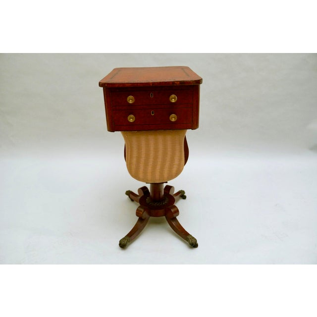 Traditional Circa 1820 Regency Amboyna Wood Worktable For Sale - Image 3 of 11