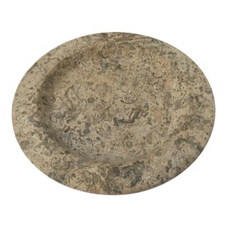 Natural Interiors Stone Round Tray For Sale
