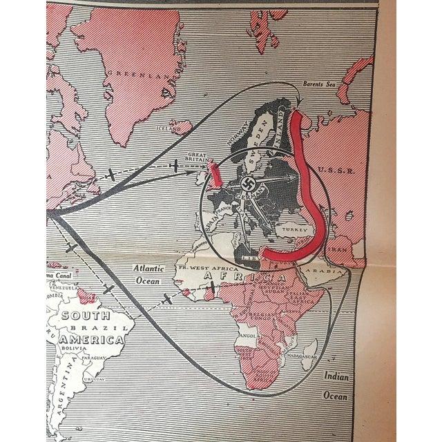 Vintage World War II Political Newspaper Art Print - Image 4 of 6