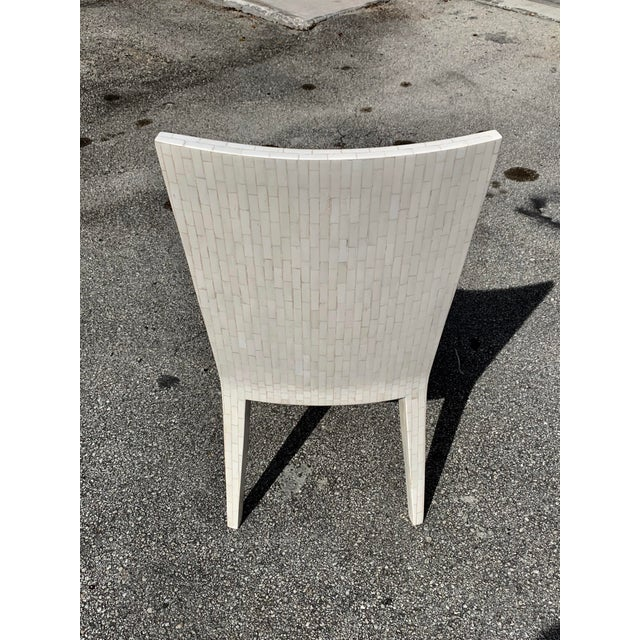 1970s Enrique Garcel Tessellated Bone Dining Chairs - Set of 6 For Sale - Image 9 of 13