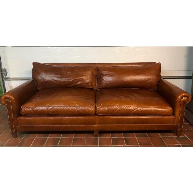 Ralph Lauren Ralph Lauren Leather MacIntyre Sofa For Sale - Image 4 of 4