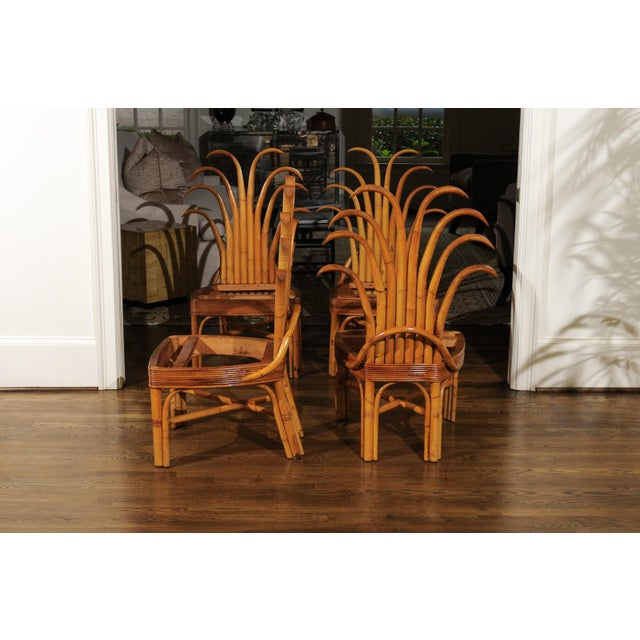 1950s Jaw-Dropping Unique Pair of Custom-Made Palm Frond Chairs, circa 1950 For Sale - Image 5 of 13