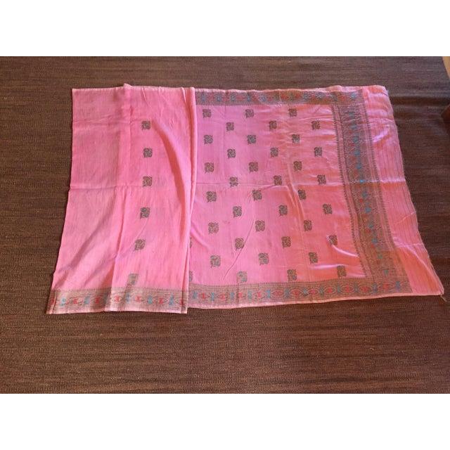 Pink Sari Fabric - Image 2 of 5