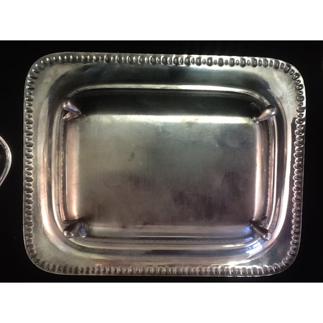Vintage Silver Plated Footed Butter Dish - Image 5 of 5