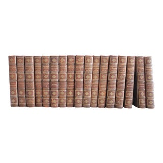 Antique Leather Bound American Statesmen Books - Set of 17 For Sale
