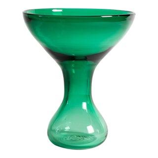 Vintage Blenko Green Glass Vase