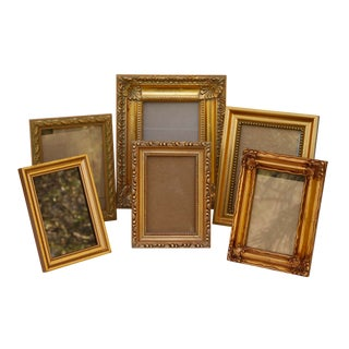Gold Picture Frames, Set of 6 For Sale