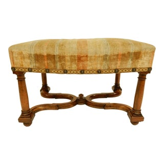 19th Century Italian Renaissance Style Walnut Stool For Sale
