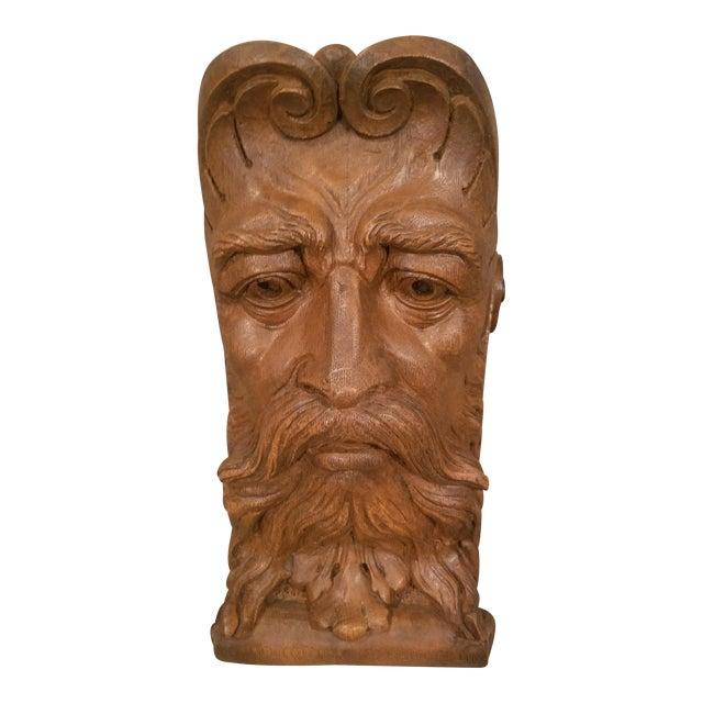 1970s Figurative Faux Bois Mythical Man Wall Corbel Shelf For Sale