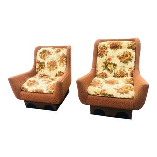 1970s Vintage Adrian Persall Chairs- A Pair For Sale