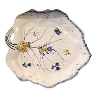 Spode Imperial Garden Snail Blue & White Platter