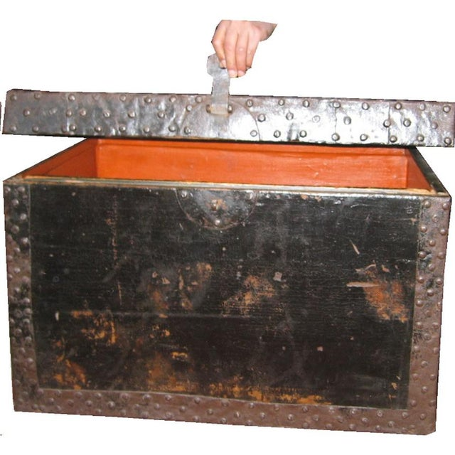 Chinese Black Wood Treasure Box - Image 3 of 4