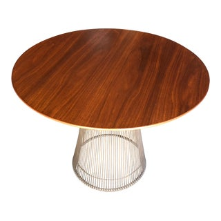 Warren Platner for Knoll Side Table in Walnut and Bronze For Sale