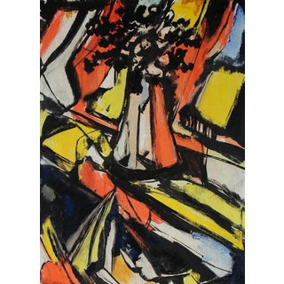 Abstract Expressionist Still Life Painting, Circa 1940s For Sale
