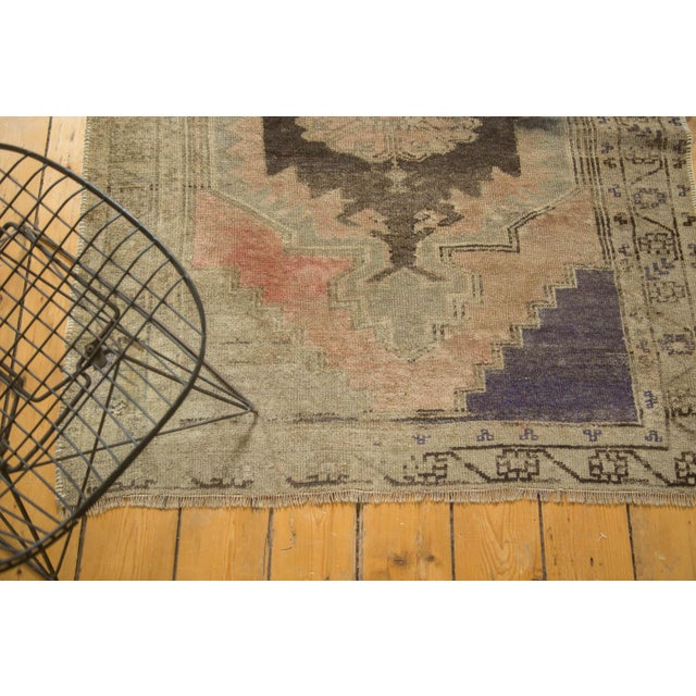 "Vintage Distressed Oushak Rug Runner - 3'7"" x 8' - Image 8 of 10"