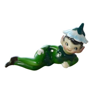 Green Reclining Garden Elf For Sale