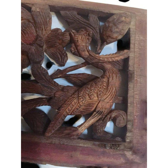 1940s Antique Chinese Wood Carved Panels - A Pair For Sale - Image 4 of 13