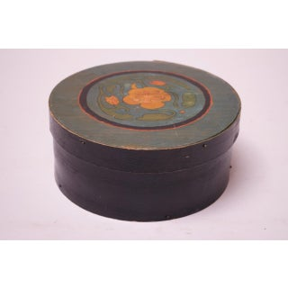 Late 19th Century Americana Pantry Box With Floral Decoration Preview
