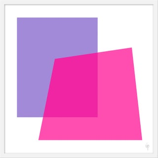 "Medium ""Intersection Lavender and Pink"" Print by Wendy Concannon, 31"" X 31"" For Sale"