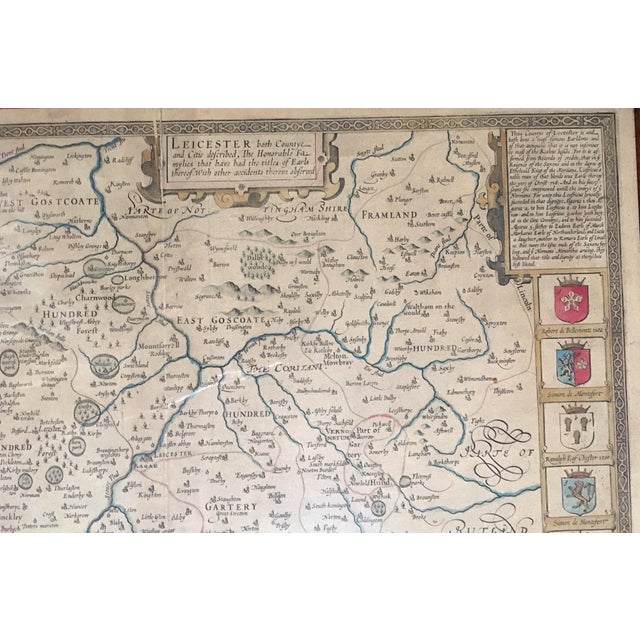 Late 19th Century Antique Leicester England Map Chairish