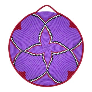 Purple and Red Moroccan Wool Tray