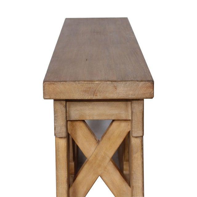 Sarreid LTD Rustic Bridge Console Table - Image 3 of 3