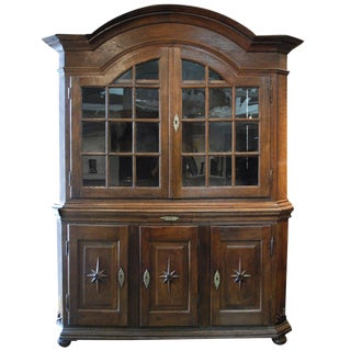 18th Century Baroque Dutch Display Cabinet For Sale