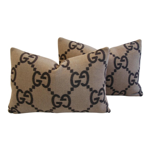 Gucci Cashmere & Velvet Pillows - A Pair - Image 1 of 10