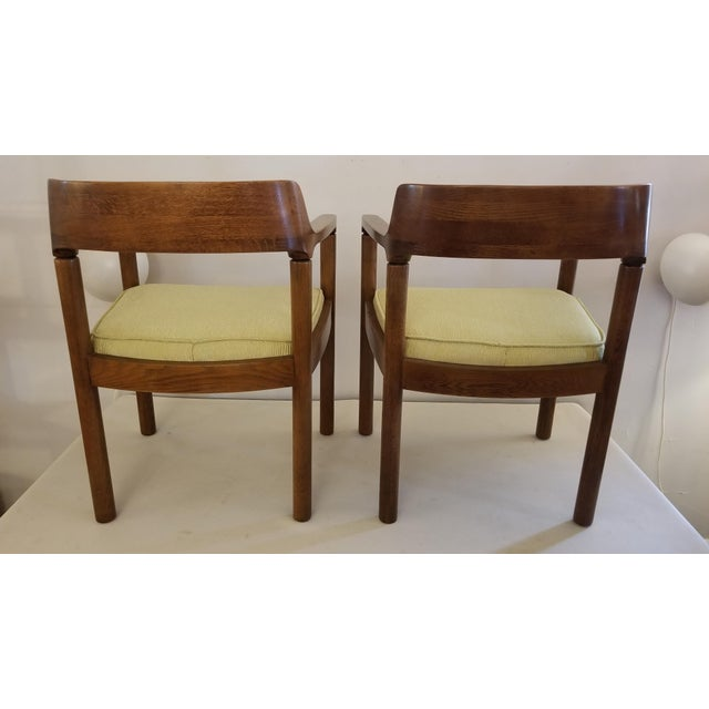 Mid-Century Modern 1960s Walnut Zographos Ireland Chairs - a Pair For Sale - Image 3 of 10