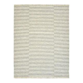 Louella, Contemporary Flatweave Handmade Area Rug, Silver, 8 X 10 For Sale