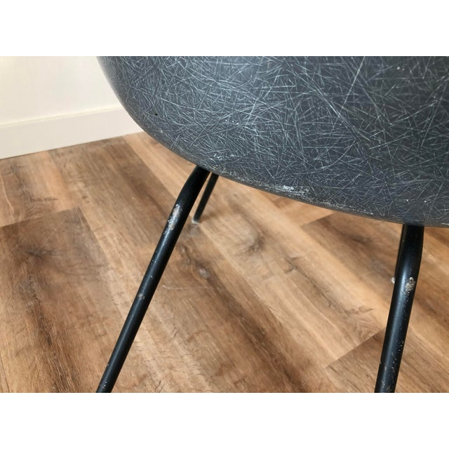 Gray Eames Fiberglass Molded Side Chair for Herman Miller For Sale - Image 8 of 13