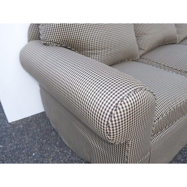 Glabman Furniture Plaid 3 Seater Sofa - Image 10 of 11