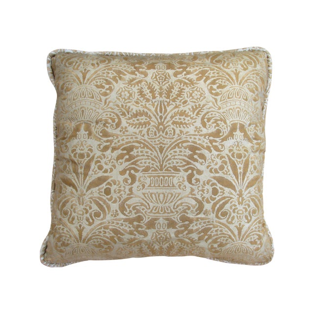 Gold Fortuny Pillow - Image 1 of 5