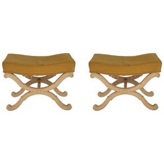 Pair of 1960s Italian Footstools For Sale