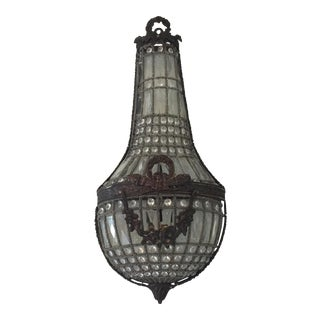 Swedish Style Garland Swag Sconce For Sale