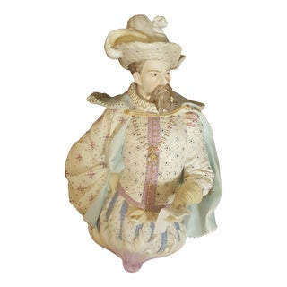 Antique Vion & Baury Bisque Porcelain Figural Wall Statuette