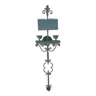 1920s Spanish Revival Hand Wrought Wall Sconce For Sale