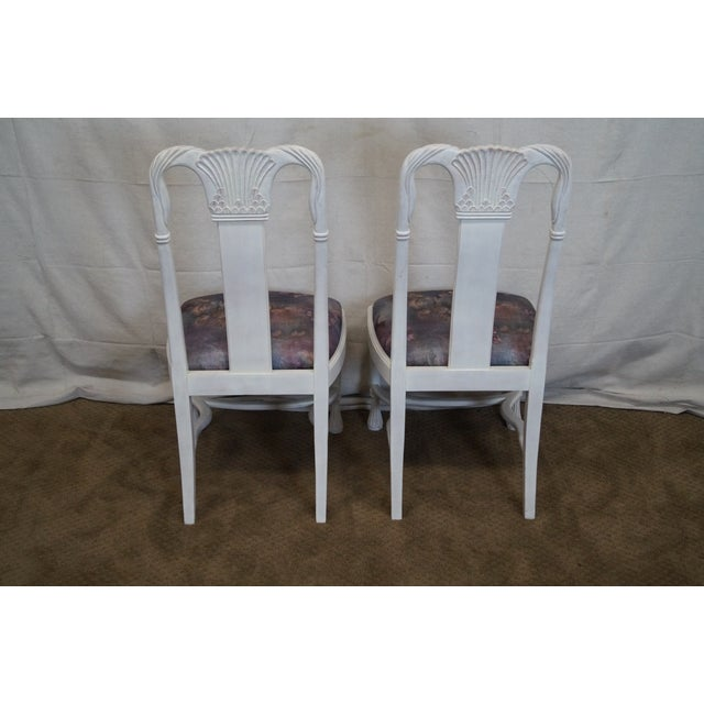 Whitewash Dining Chairs - Set of 10 - Image 4 of 10
