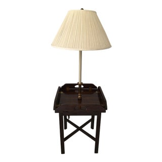Vintage Butler Tray Table Lamp For Sale