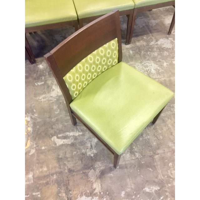 Verdant Green Patterned Dining Chairs - Set of Six - Image 4 of 7