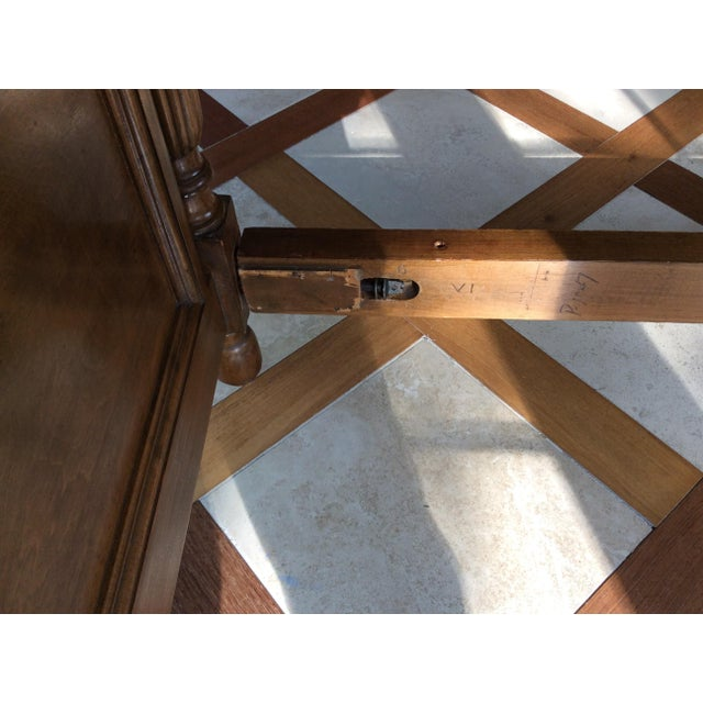 19th Century French Empire Walnut Bedframe For Sale - Image 11 of 13