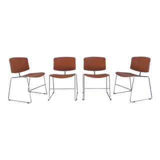 1970s Steelcase Max Stacker Chrome Chair - Set of 4 For Sale