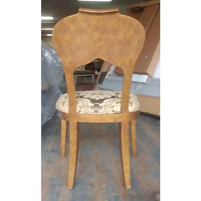 Henredon Furniture Arabesque Solid Antiqued Metal Ladies Desk Chair For Sale - Image 9 of 12