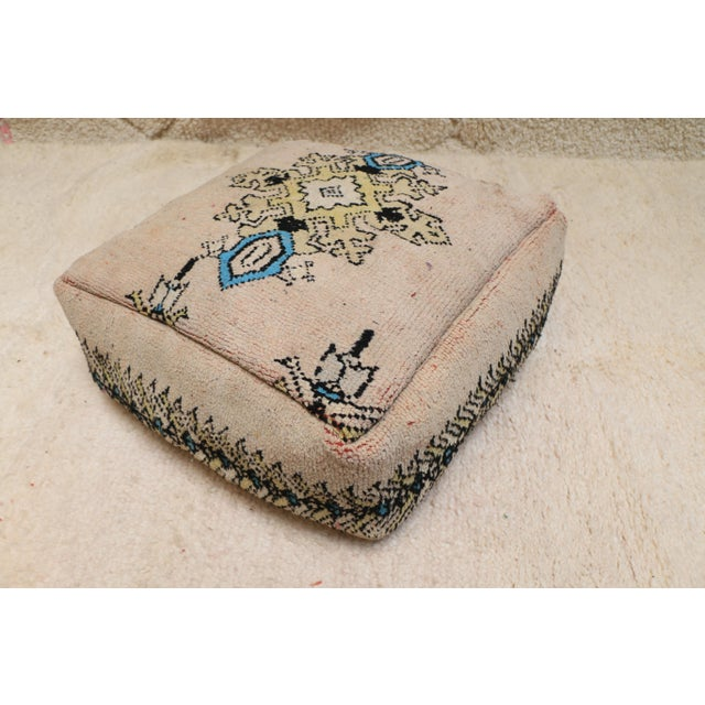 Moroccan Moroccan Rug Pillow Pouf Cover (Unstuffed) For Sale - Image 3 of 10